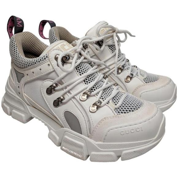 c5e03481b Gucci Shoes | White Flashtrek Sneakers | Poshmark